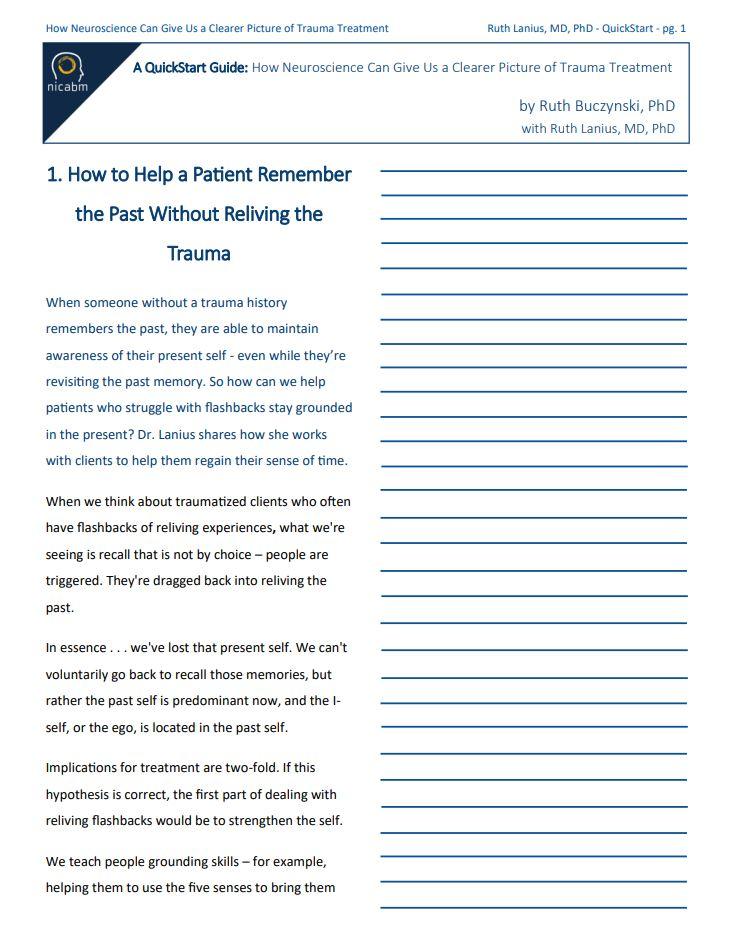 Traumatic Memory QuickStart Guide Sample