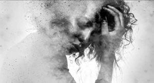 grayscale woman in blurry trauma advances treatment