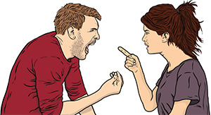 fighting couple working with emotional triggers