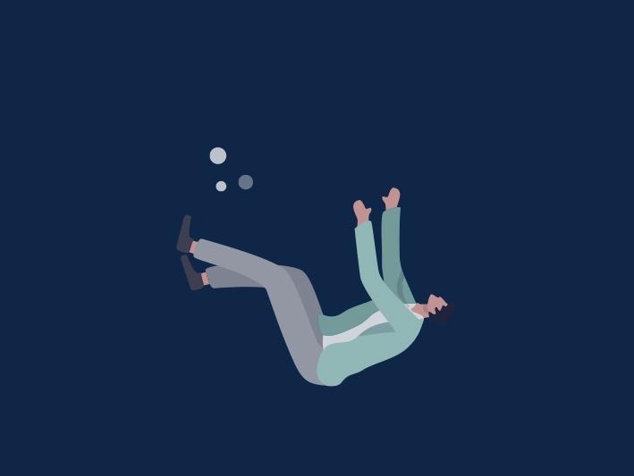 a man drowning