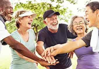 elderly group of people social