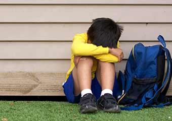 child suffering from trauma PTSD