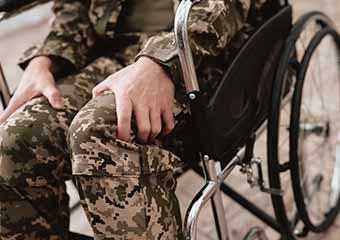 veteran suffering from PTSD